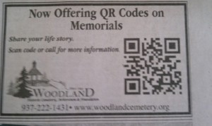 Can we bury QR codes? (Image from WTFQRCodes.com)